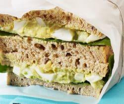 Healthy egg & avocado sandwich