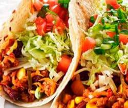 Healthy bean burrito