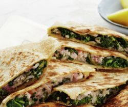 Healthy cheese and spinach gozleme