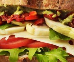 Healthy gourmet vegetarian sandwich